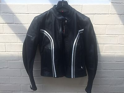 Ladies Hein Gericke Leather Motor Cycle Jacket - Size 12