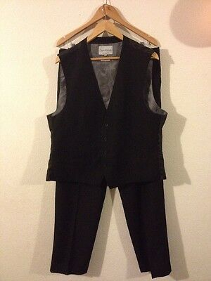 Mens Special Occasion Suit Jacket Trousers Waistcoat Waistband Bow Tie <R11316