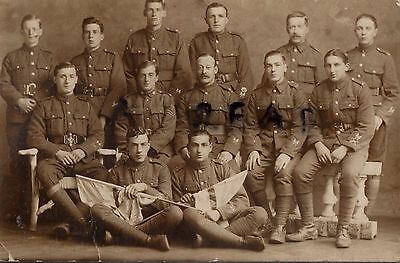 WW1 Soldier group Signallers Course of Instruction ? Bangor ? Belfast ?