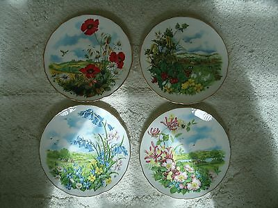 "Royal Albert Collector Plate's ""As The Seasons Unfold"" series"