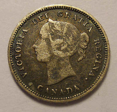 1890 H Five Cent Silver Nice FREE Shipping