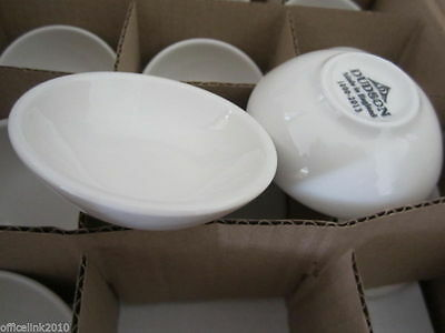 "12 x NEW Dudson Small White Ceramic Bowl 7.6cm 3"" Dish Sauce Dipping Condiment"