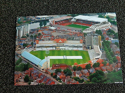 "NOTTINGHAM FOREST + NOTTS Cricket 2 grounds  Aerial 6""x4"" REPRINT POST FREE"