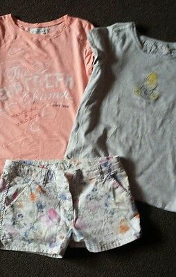 Girls summer clothes Next H&M shorts tshirts  age 10 year 10-12 years 11 years