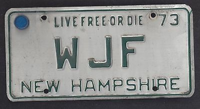 New Hampshire Vintage Auto Licence Plate 1973 (Wjf)