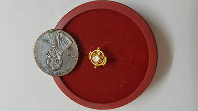 22k Solid Yellow Gold Nose Pin Nice Cubic Zirconia Stone indien Good Sale #EQSXI