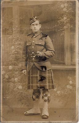WW1 Soldier Pte G Good Seaforth Highlanders from Radcliffe to J Walker Salonica
