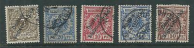Germany South West Africa.yr.1897-1899 .set Of Five.used
