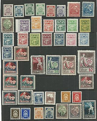 Latvia Yr.1919-  Collection 45..perf/imperf. Wmk/no Wmk.mh