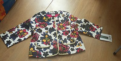 Mamas & Papas Baby Girls Floral Light Jacket Size 12-18 months BNWT