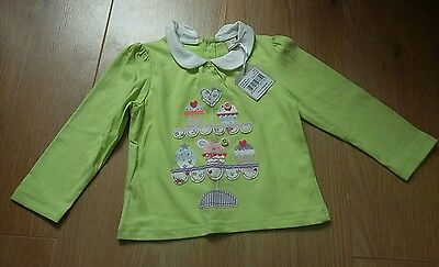 BNWT TU Sainsbury Girls Green Top Size 6-9 months