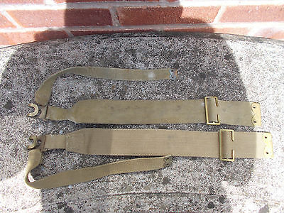WW2 British 1937 Pattern Webbing L-Straps For Small Pack