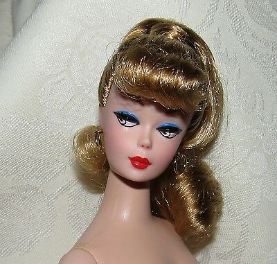 Nude Barbie Doll Vintage Repro Reproduction Blonde Ponytail For Ooak