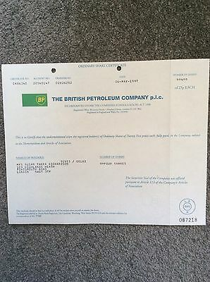 British Petroleum Co.plc Dated 1997 4 Shares Invalid Share Certificate
