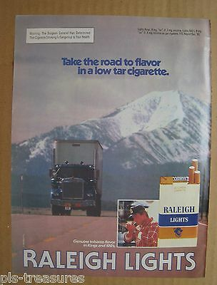 1982 Raleigh Cigarette Lights Color AD