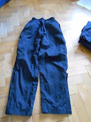 Black waterproof over trousers by Peter Storm - Age 11 - 12
