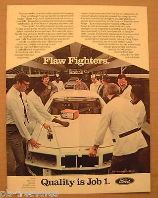 1983 Ford Flaw Fighters - Quality is Job 1 / Winston Cigarette Color AD