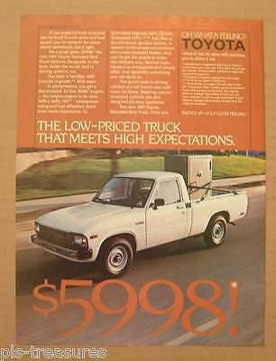 1983Toyota Pickup Truck / Timex Computers Color AD