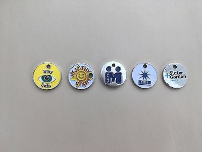 5 Assorted Trolley Tokens Good Used Condition
