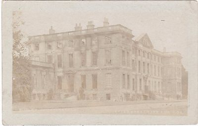Burley House, Oakham After Great Fire Aug 8 1908 RP