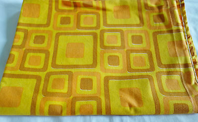 vintage fabric curtain funky 60s/70s 34x48 inches