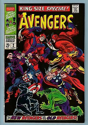 Avengers King-Size Special # 2 Vfn+ (8.5) Lovely Glossy High Grade- 1968- Cents