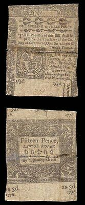 Usa - 1776 Connecticut Colonial Currency - 1 Sh 3 Pence