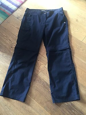 Craghoppers Zip Off Trousers / Shorts Size 14 Reg New
