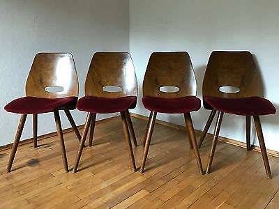 Dining Chairs from Tatra Nabytok , 1960 's Set of 4 , mid century