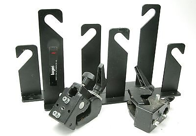 Manfrotto Two Triple background Hooks # 2921 & Two Super Clamps #035 As Holders.