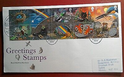 1991 Royal Mail Fdc - Greetings Stamps - Good Luck Symbols - Rainow Macclesfield