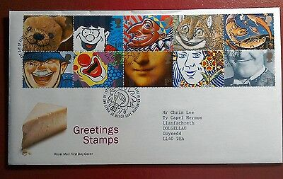 1991 Royal Mail Fdc - Greetings Stamps - Famous Smiles - Edinburgh