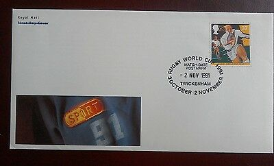 1991 Royal Mail Cover - Rugby World Cup 1991 - Twickenham Middx. 2 Nov 1991