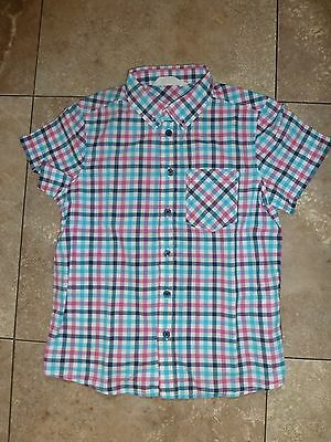 Lovely H&M Short Sleeved Checked Shirt, Age 9 - 10 Years