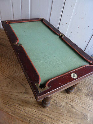 Antique miniature mini billiard snooker table- slate bed