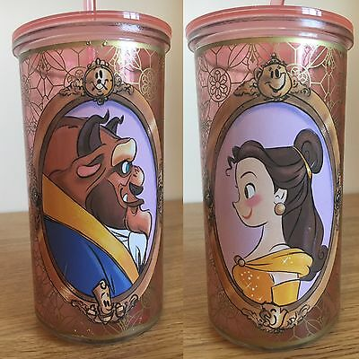 Disney Store Limited Edition Art Of Belle Glass Tumbler