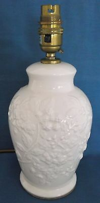 Royal Creamware Fine English China Table Lamp Light Rare Made England