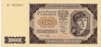 500 Zlotych From Poland 1948 Unc