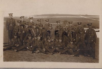 WW1 Soldier group Royal Fusiliers Salisbury Plain ?? wear webbing marching order