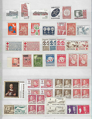 Denmark & Greenland MNH sets and stamps including blocks of 4 in total 50 stamps