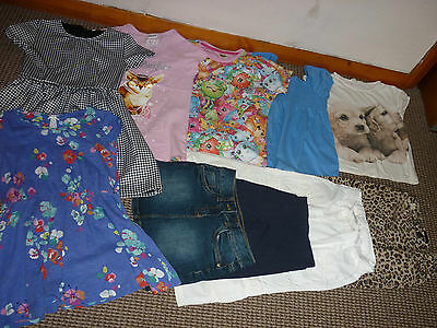 Bundle Girls Clothes age 6-7yrs Jeans Dresses Skirt Tops Leggings  Next M&S