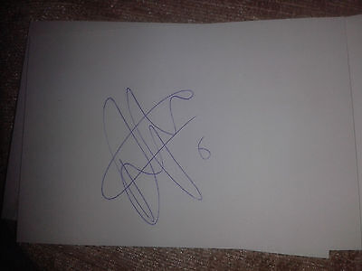 Aberdeen Ash Taylor HAND SIGNED card