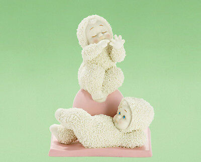 # NEW Dept 56 SNOWBABIES Figurine WORKOUT TRAINER Snow Baby Statue EXERCISE