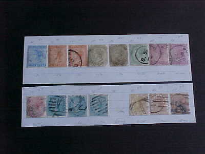 INDIA - Scott #20//44, 15 early used stamps 1865-1887