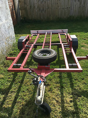 Motorcycle quad trailer galvanized steel.