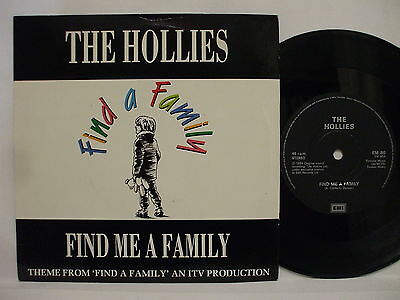 THE HOLLIES - Find Me A Family / No Rules .. 1989 Uk EMI 45rpm