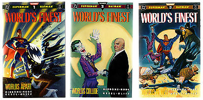 The World's Finest 1 2 3 TPB Mini Series DC Comics Joker Batman Superman