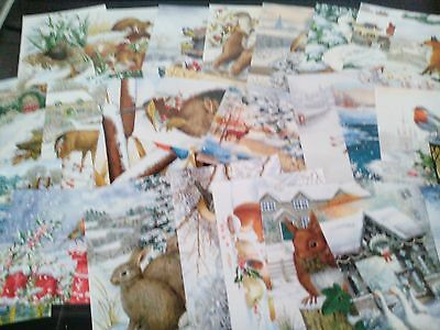 Craft Clear Out 24 X Prints From Hunkydory Book Of Winter Wildlife Card Making