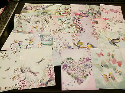 Craft Clear Out 24 X Prints From Hunkydory  Book  Of  Shimmer Card Making New