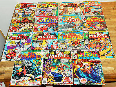 15x MS MARVEL no.3-20 lot Marvel 1977 CAROL DANVERS Captain Marvel Variants